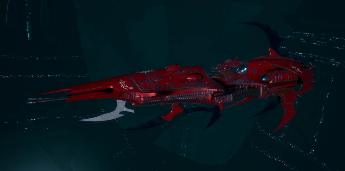 Drukhari Raider Light Cruiser - Dark Mirror - [Flayed Skull Sub-Faction]