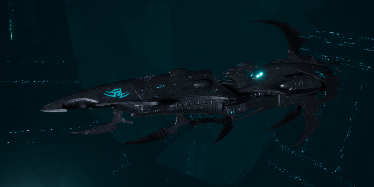 Drukhari Raider Light Cruiser - Bladed Lotus - [Iron Thorn Sub-Faction]