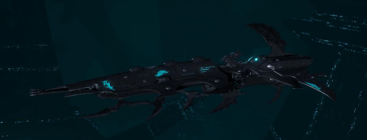 Drukhari Raider Cruiser - Flayed Skull - [Iron Thorn Sub-Faction]