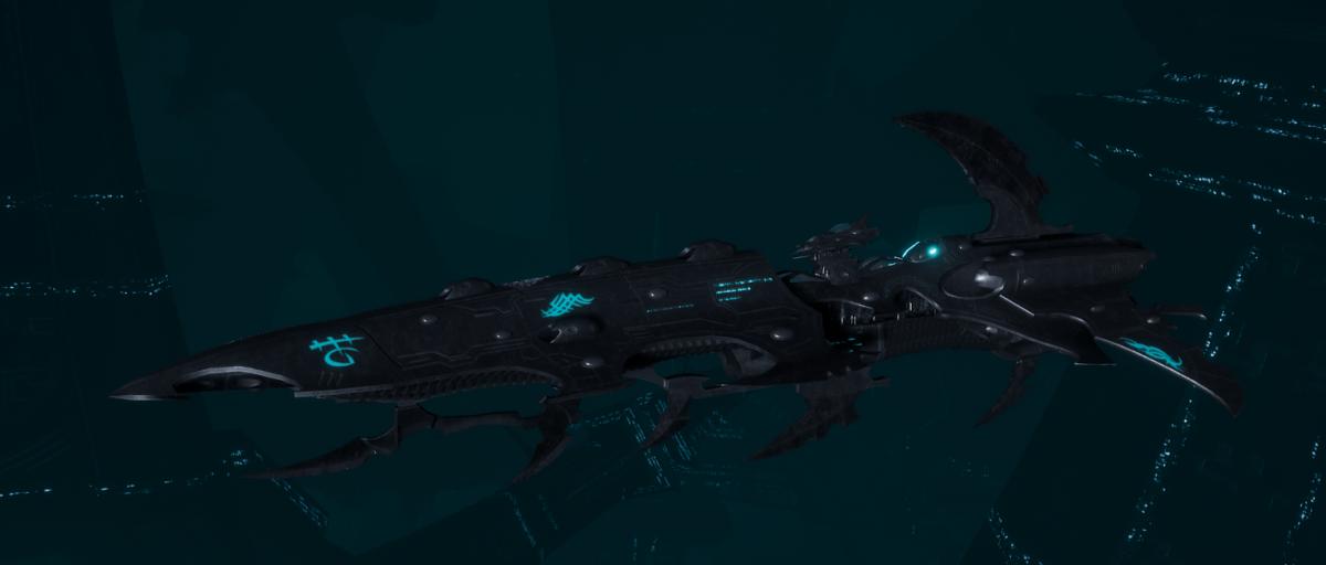 Drukhari Raider Cruiser - Bloodied Claw - [Iron Thorn Sub-Faction]