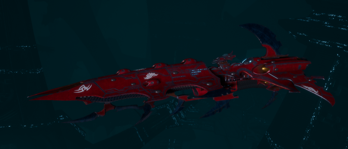 Drukhari Raider Cruiser - Fiend Ascendant - [Flayed Skull Sub-Faction]