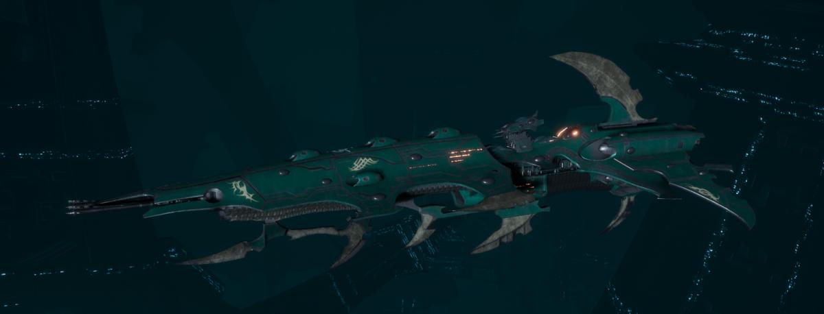 Drukhari Raider Cruiser - Flayed Skull - [Broken Sigil Sub-Faction]