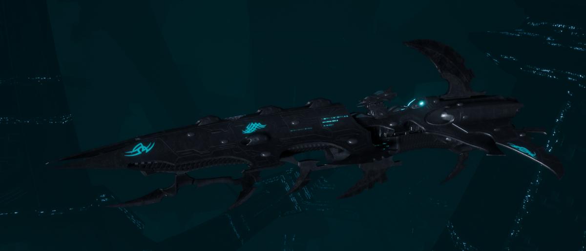 Drukhari Raider Cruiser - Fiend Ascendant - [Iron Thorn Sub-Faction]