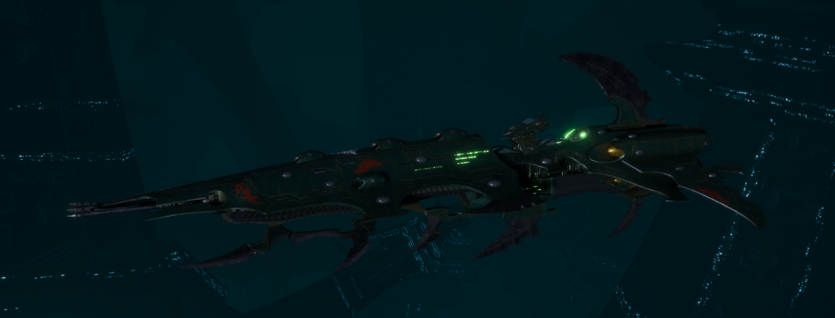 Drukhari Raider Cruiser - Flayed Skull - [Black Heart Sub-Faction]
