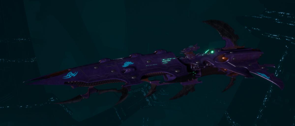 Drukhari Raider Cruiser - Fiend Ascendant - [Last Hatred Sub-Faction]