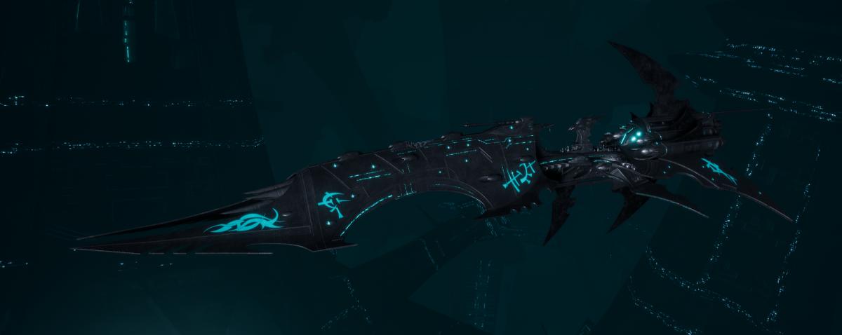 Drukhari Raider Battleship - Dying Sun - [Iron Thorn Sub-Faction]