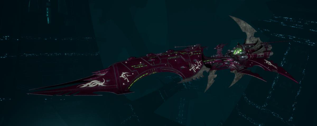 Drukhari Raider Battleship - Dying Sun - [The Severed Sub-Faction]