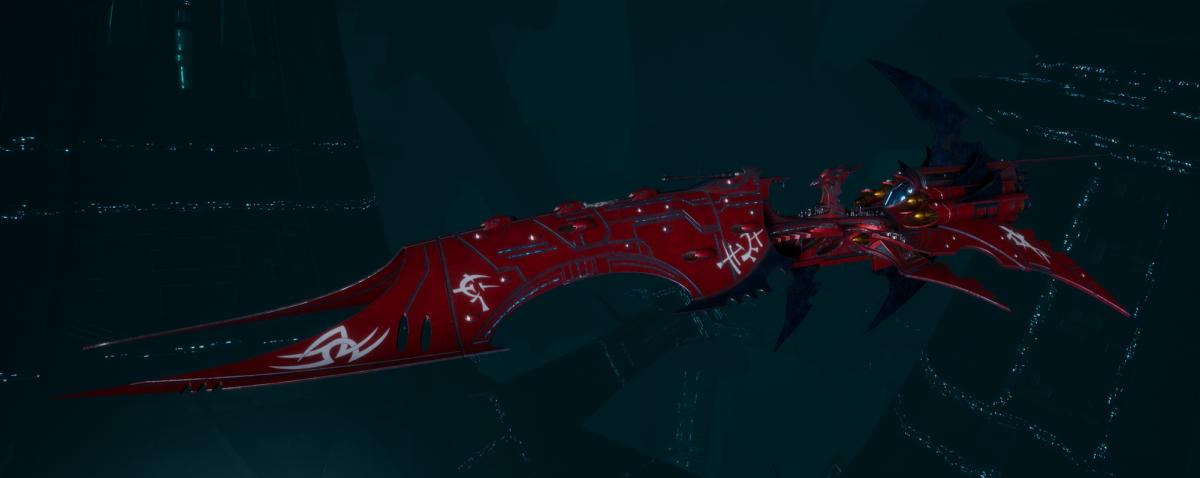 Drukhari Raider Battleship - Iron Thorn - [Flayed Skull Sub-Faction]