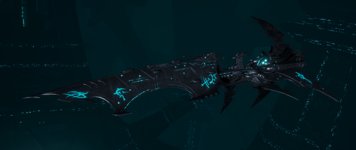 Drukhari Raider Battleship - Falling Moon - [Iron Thorn Sub-Faction]