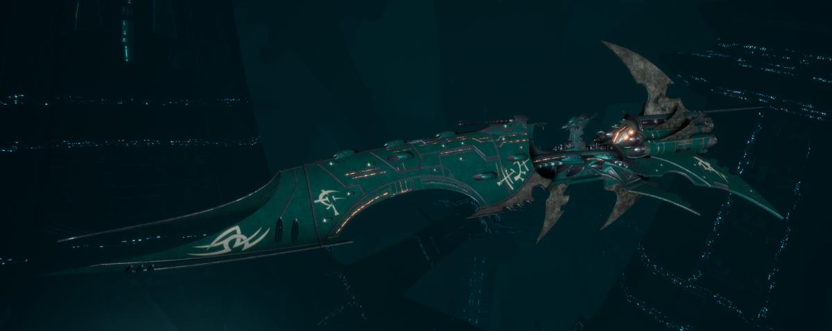 Drukhari Raider Battleship - Iron Thorn - [Broken Sigil Sub-Faction]