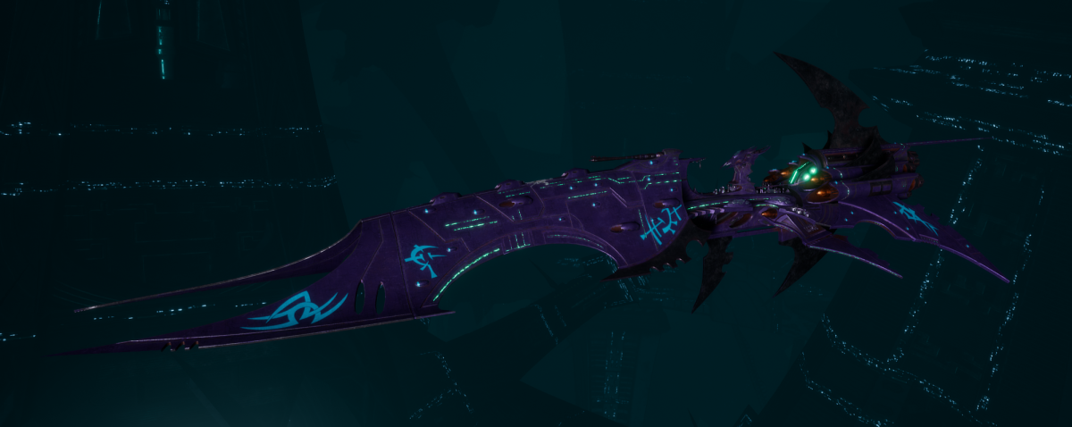 Drukhari Raider Battleship - Iron Thorn - [Last Hatred Sub-Faction]