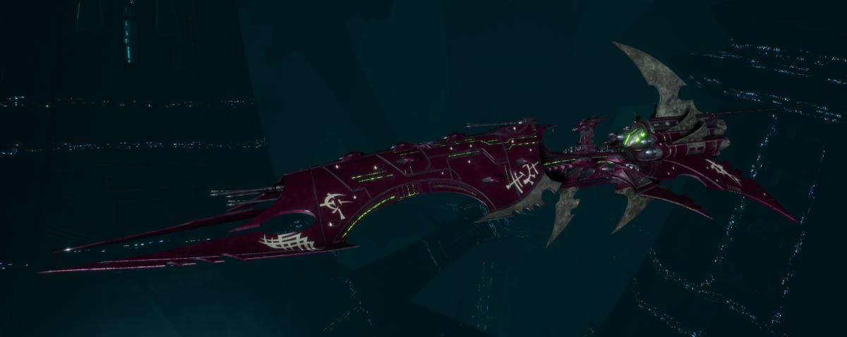 Drukhari Raider Battleship - Obsidian Rose - [The Severed Sub-Faction]