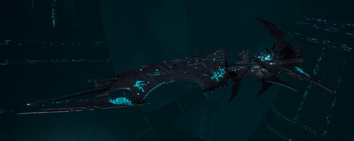 Drukhari Raider Battleship - Obsidian Rose - [Iron Thorn Sub-Faction]
