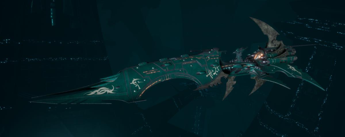 Drukhari Raider Battleship - Dying Sun - [Broken Sigil Sub-Faction]