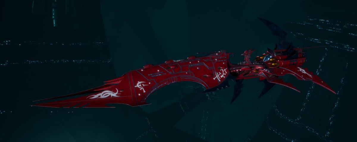 Drukhari Raider Battleship - Dying Sun - [Flayed Skull Sub-Faction]