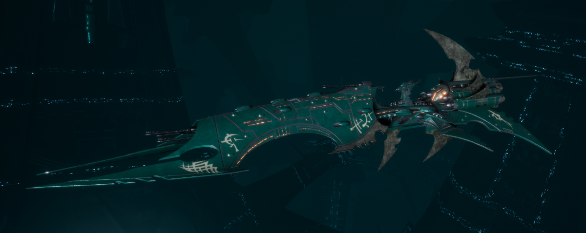 Drukhari Raider Battleship - Obsidian Rose - [Broken Sigil Sub-Faction]