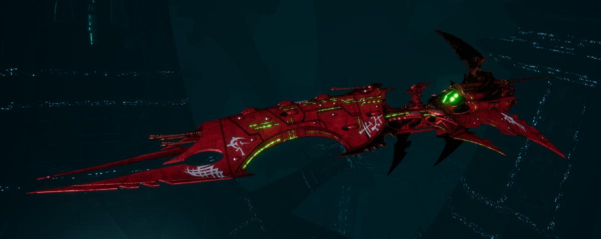 Drukhari Raider Battleship - Obsidian Rose - [Ynnari Sub-Faction]