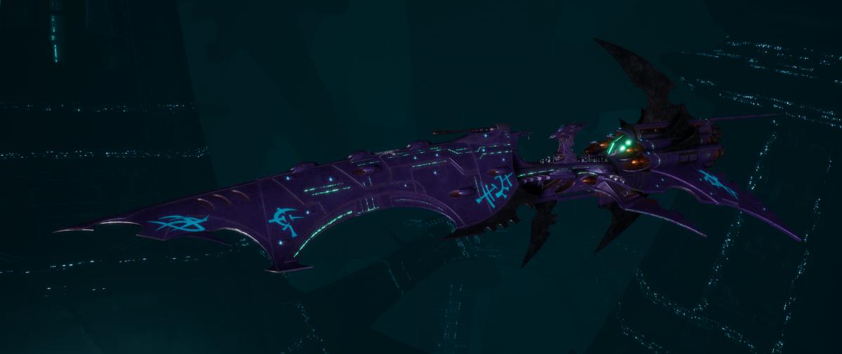 Drukhari Raider Battleship - Falling Moon - [Last Hatred Sub-Faction]