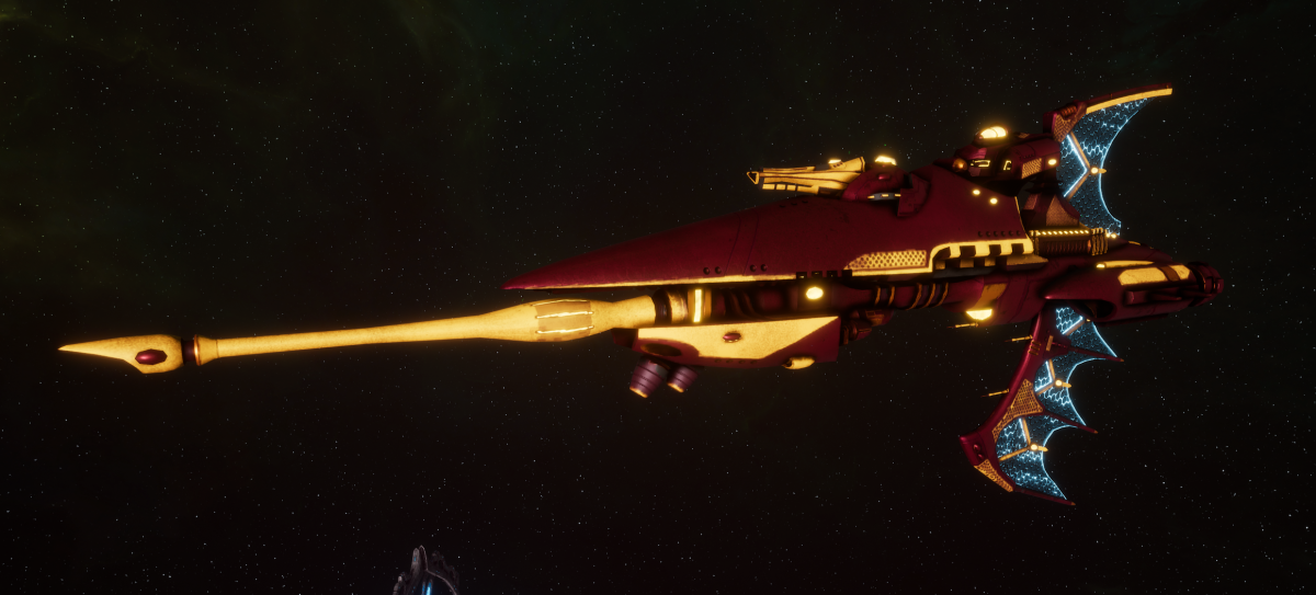 Aeldari Corsair Frigate - Hellebore [Twilight Sword - Eldar Sub-Faction]