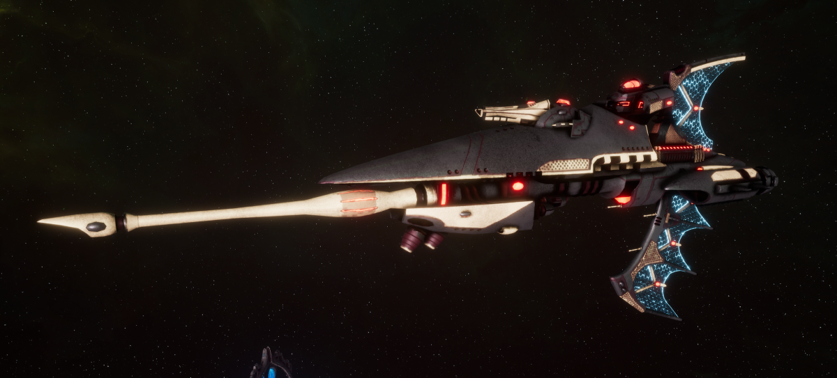 Aeldari Corsair Frigate - Hellebore [Steeleye Raiders - Eldar Sub-Faction]