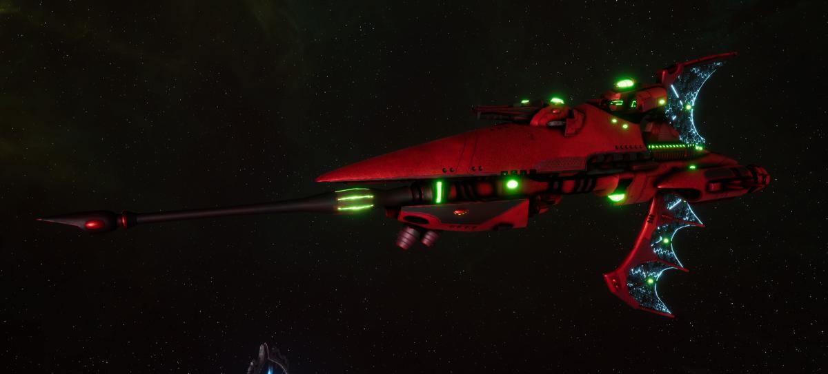 Aeldari Corsair Frigate - Hellebore [Ynnari - Eldar Sub-Faction]