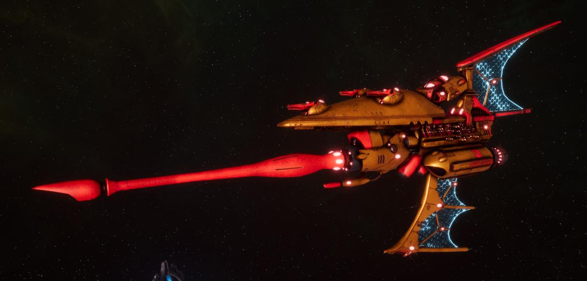 Aeldari Corsair Destroyer - Hemlock [Sun Blitz - Eldar Sub-Faction]