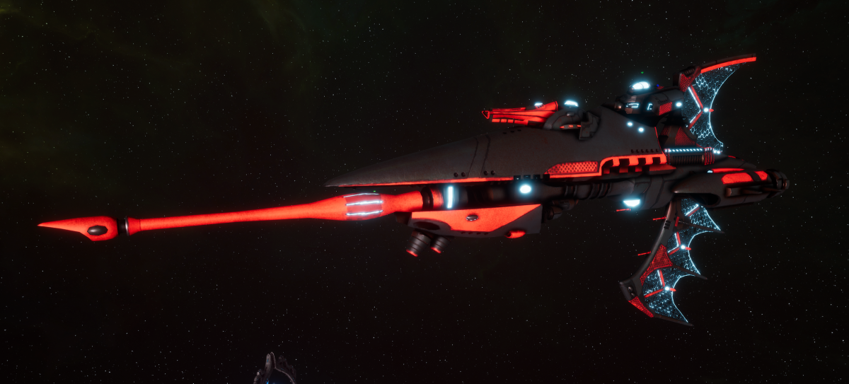 Aeldari Corsair Frigate - Hellebore [Void Dragon - Eldar Sub-Faction]