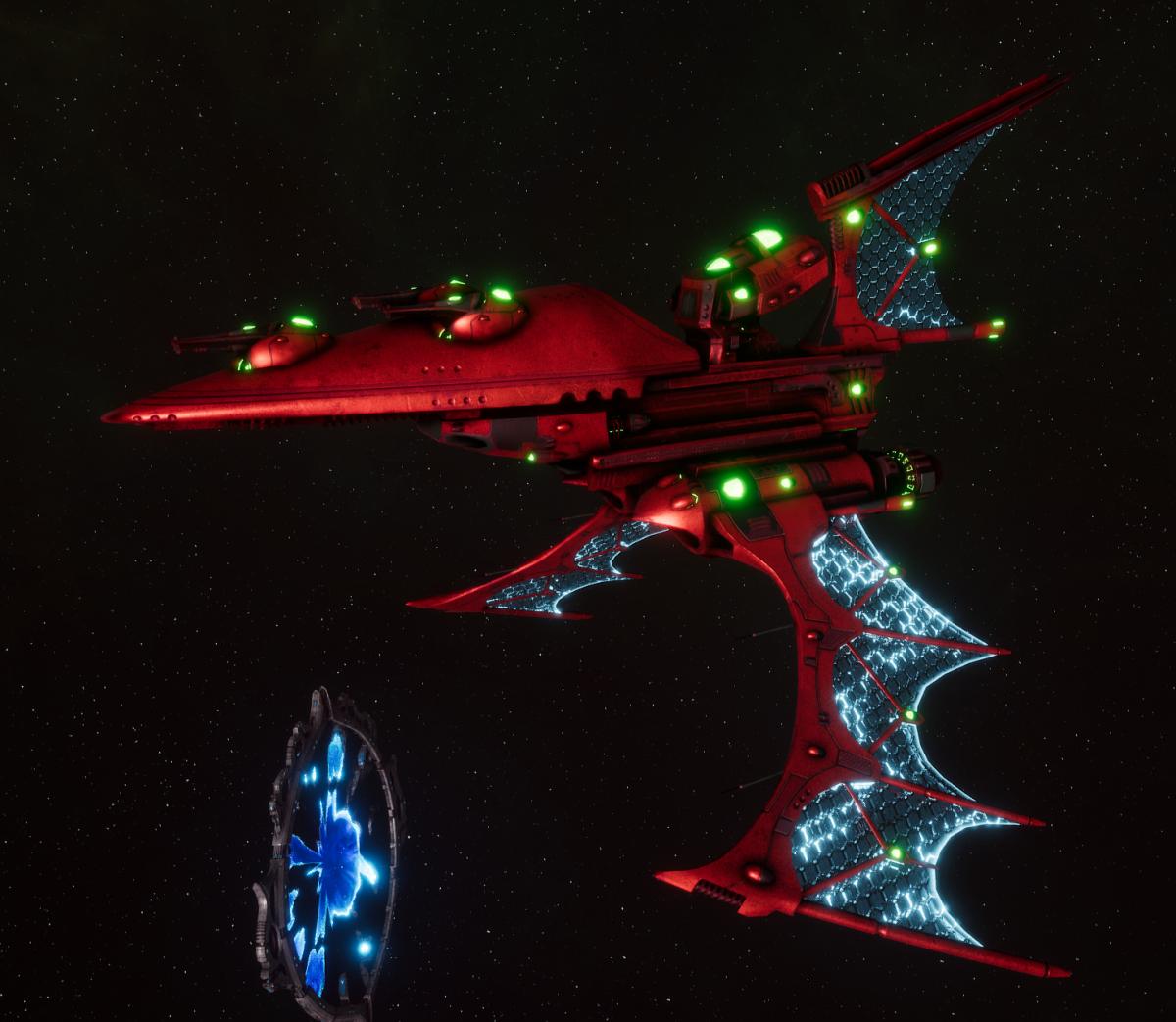 Aeldari Corsair Destroyer - Nightshade [Ynnari - Eldar Sub-Faction]