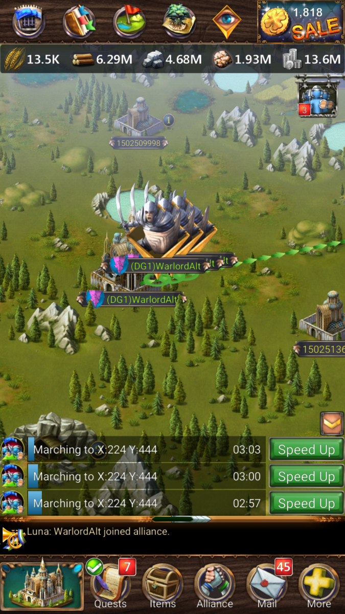 Sending all troops out when attacking