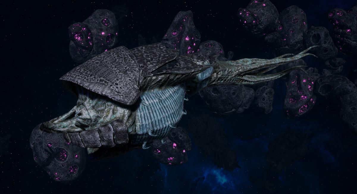 "Tyranid Frigate - ""Strangler Kraken"" - [Ouroboris Sub-Faction]"