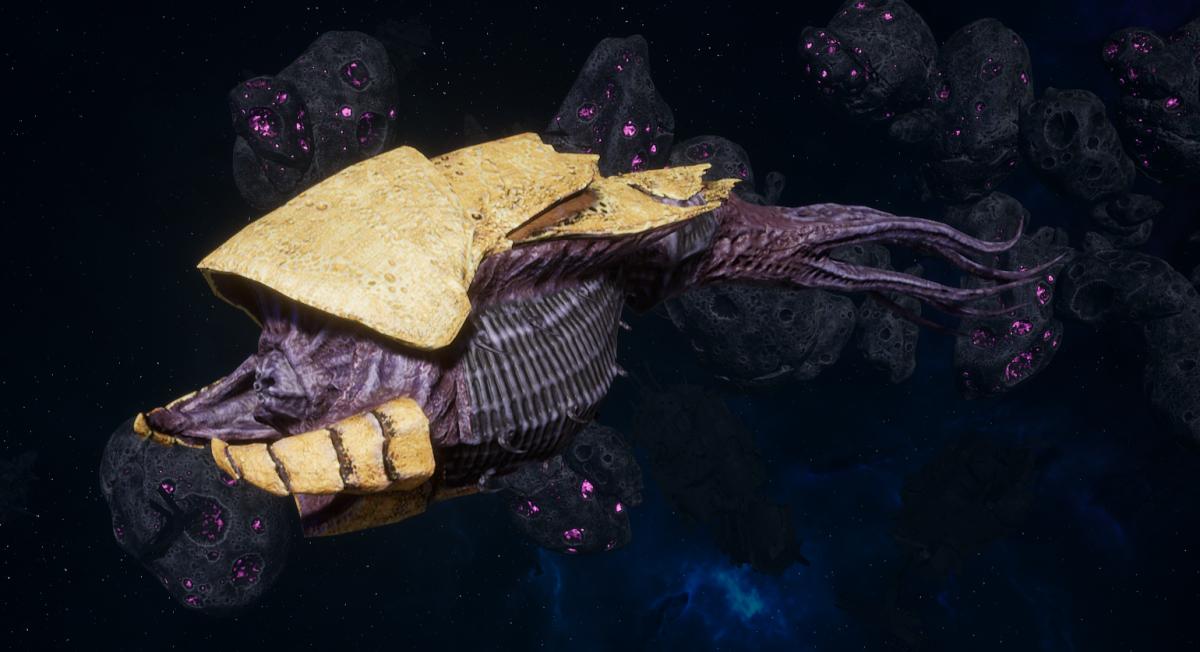 """Tyranid Frigate - """"Strangler Kraken"""" - [Jormungandr Sub-Faction]"""