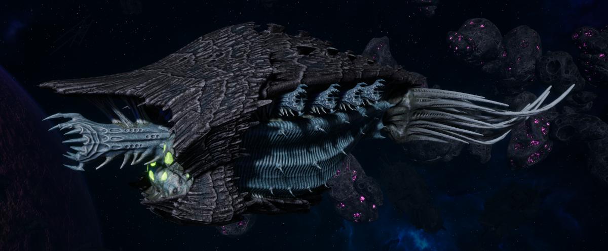 "Tyranid Cruiser - ""Razorfiend"" - [Ouroboris Sub-Faction]"