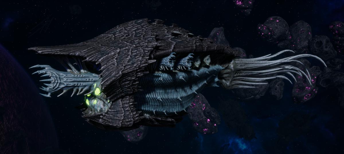 """Tyranid Cruiser - """"Bio Corrosive Razorfiend"""" - [Ourobris Sub-Faction]"""