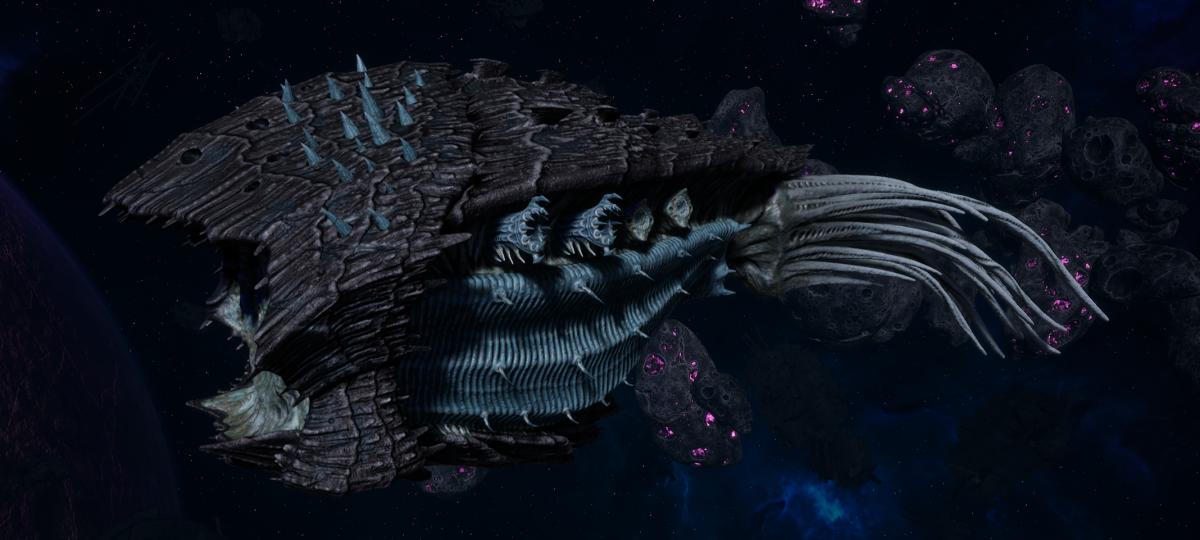 "Tyranid Cruiser - ""Bio Acid Projectile Razorfiend"" - [Ourobris Sub-Faction]"