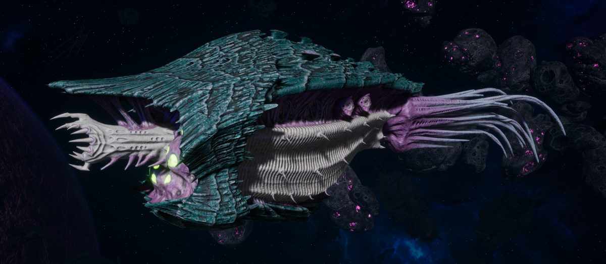 "Tyranid Cruiser - ""Bio Infestation Razorfiend"" - [Tiamet Sub-Faction]"