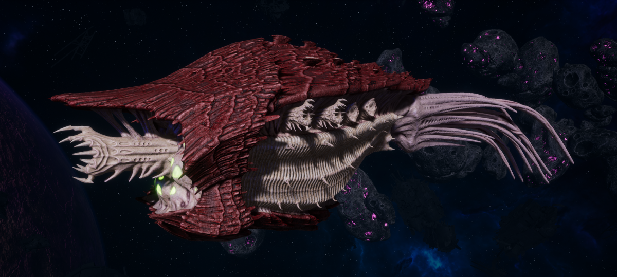 "Tyranid Cruiser - ""Bio Corrosive Razorfiend"" - [Kraken Sub-Faction]"