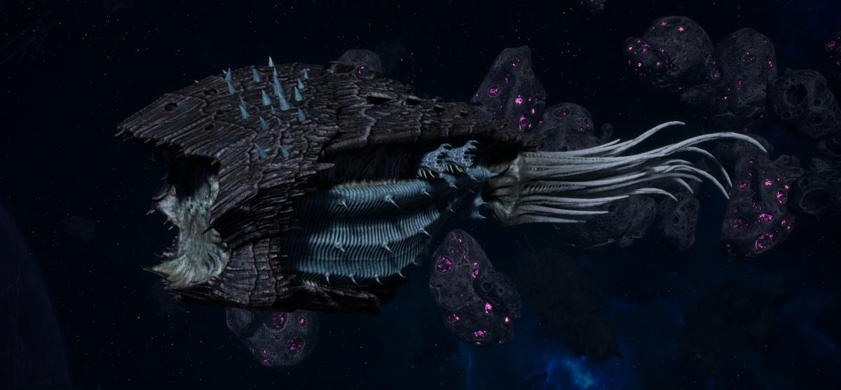 "Tyranid Cruiser - ""Corrosive Infestation Razorfiend"" - [Ouroboris Sub-Faction]"