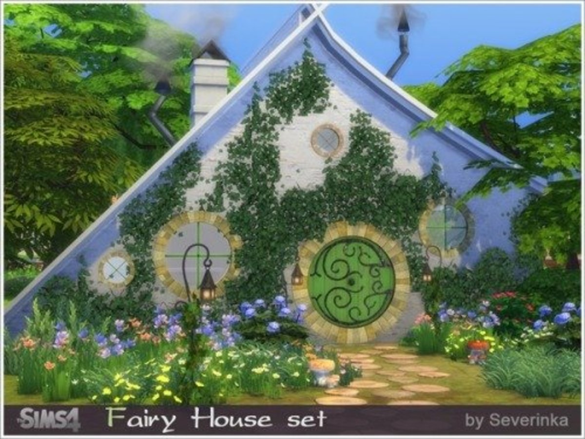 Why not download this Fairy House set by Severinka and make a full fairy world?  This set would also look good in a Lord of the Rings world.