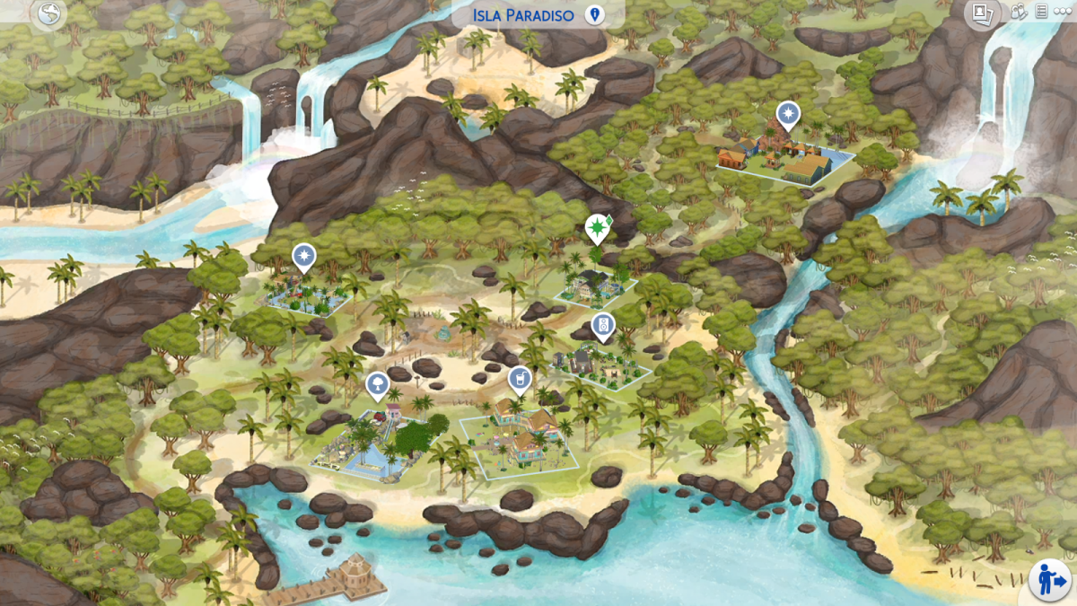 Sims 4 Beach World Map