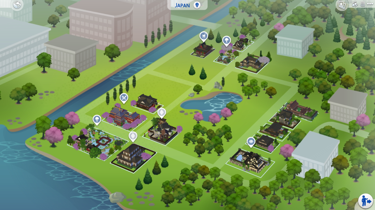 Sims 4 Japan World Map