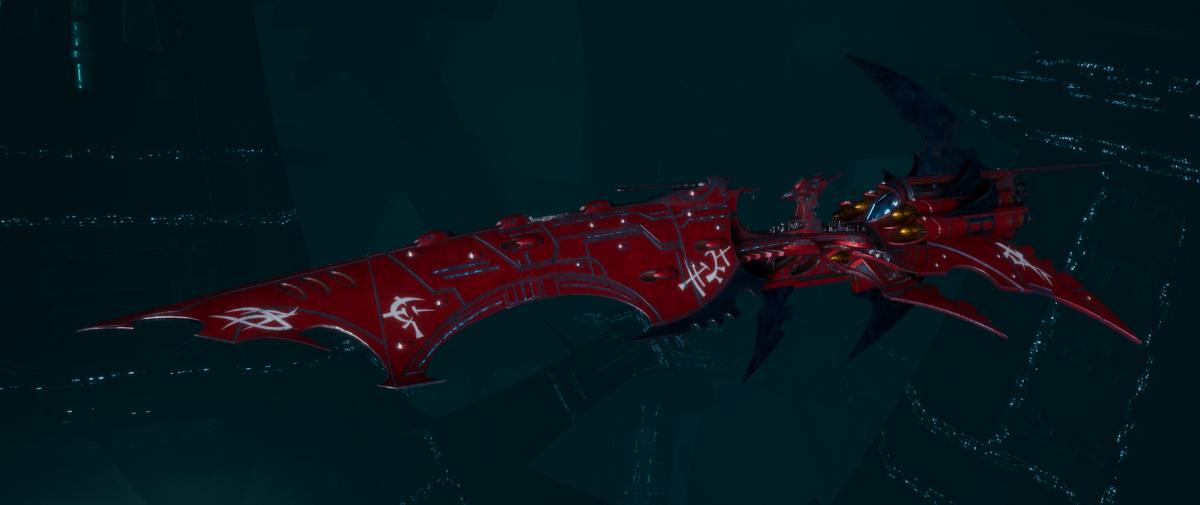 Drukhari Raider Battleship - Falling Moon - [Flayed Skull Sub-Faction]