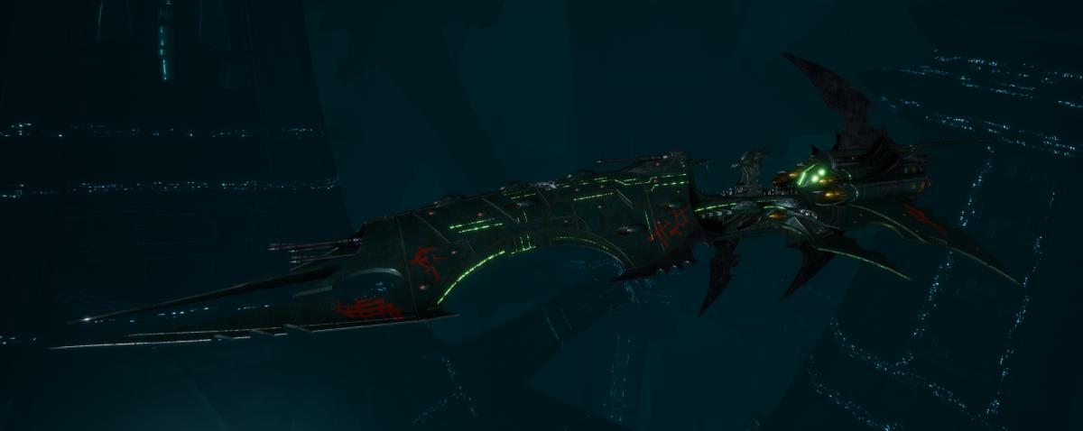 Drukhari Raider Battleship - Obsidian Rose - [Black Heart Sub-Faction]