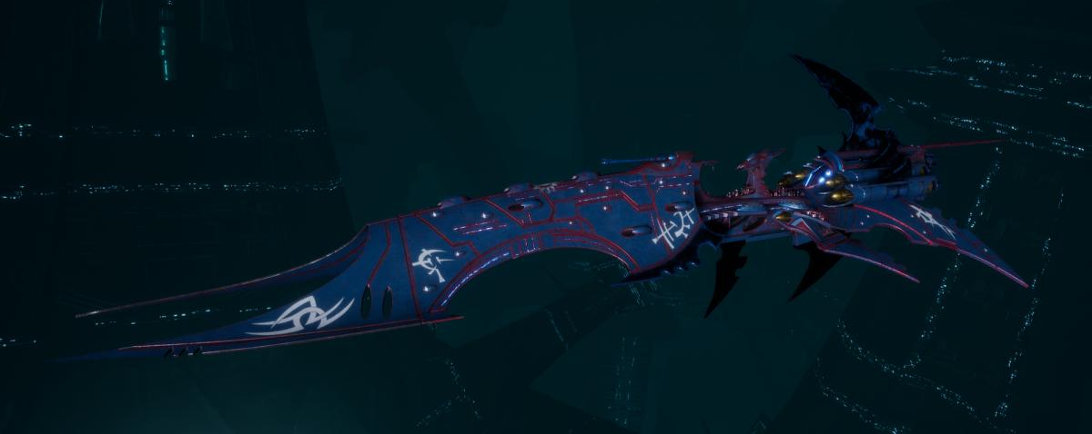 Drukhari Raider Battleship - Iron Thorn - [Dying Sun Sub-Faction]