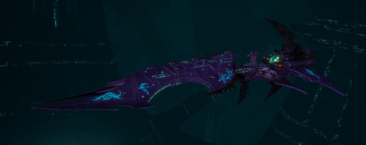 Drukhari Raider Battleship - Dying Sun - [Last Hatred Sub-Faction]