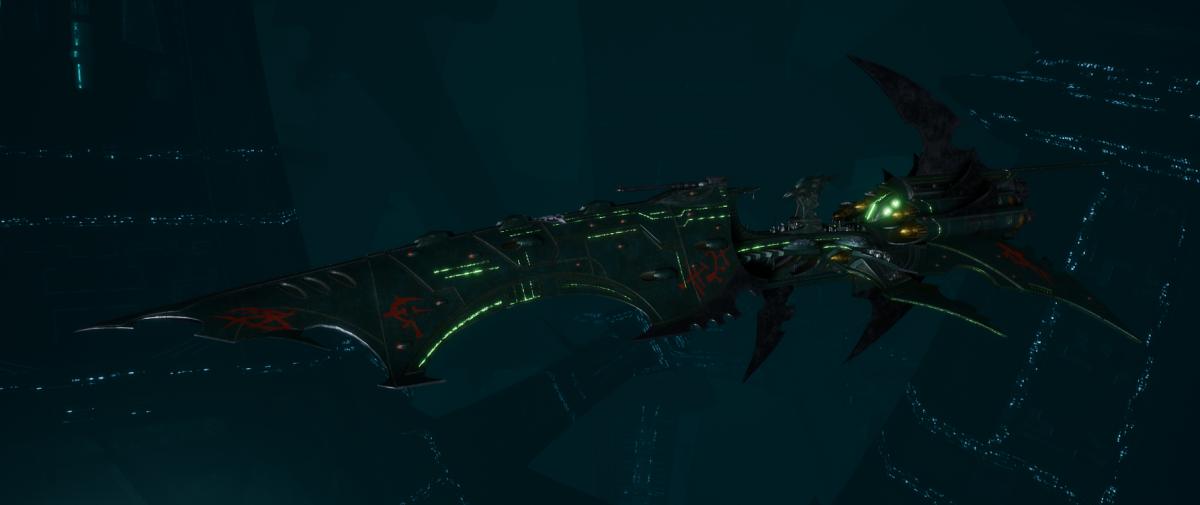 Drukhari Raider Battleship - Falling Moon - [Black Heart Sub-Faction]