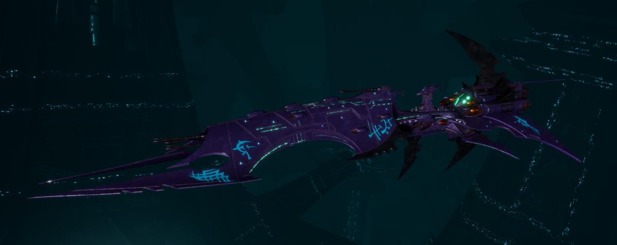 Drukhari Raider Battleship - Obsidian Rose - [Last Hated Sub-Faction]