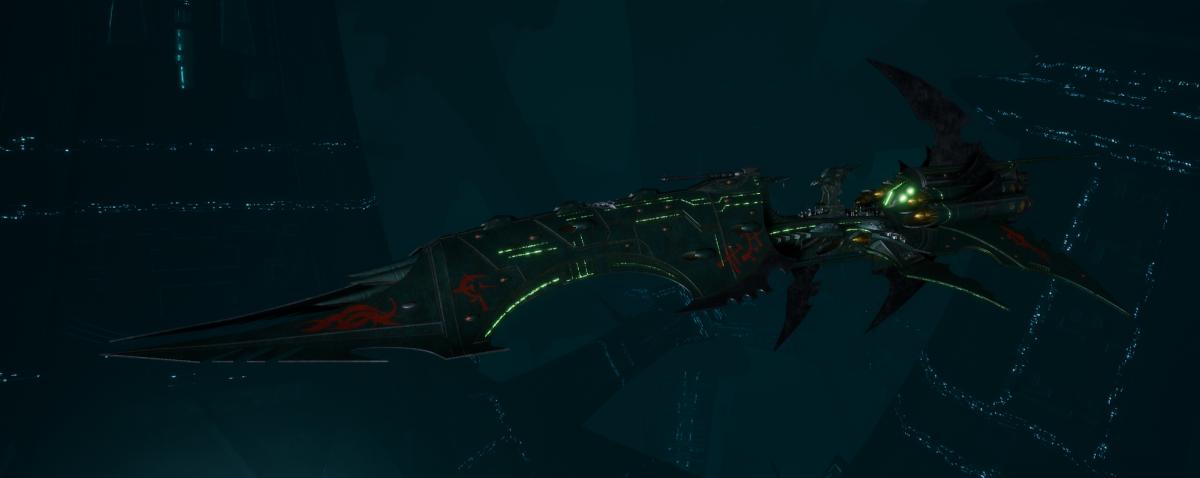 Drukhari Raider Battleship - Dying Sun - [Black Heart Sub-Faction]