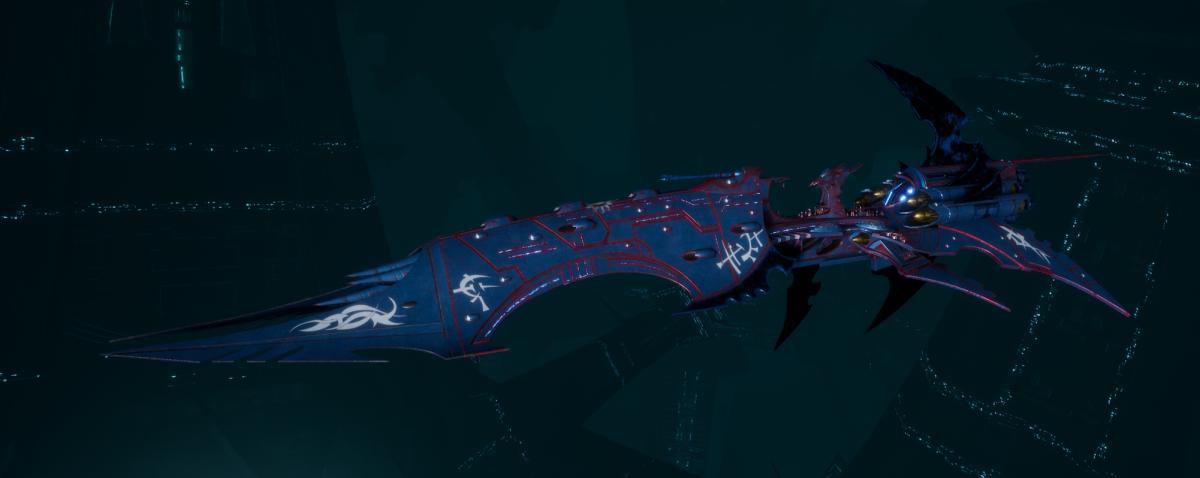 Drukhari Raider Battleship - Dying Sun - [Dying Sun Sub-Faction]