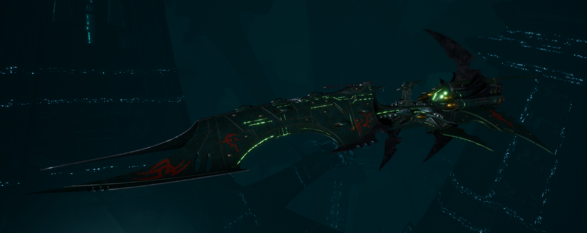 Drukhari Raider Battleship - Iron Thorn - [Black Heart Sub-Faction]