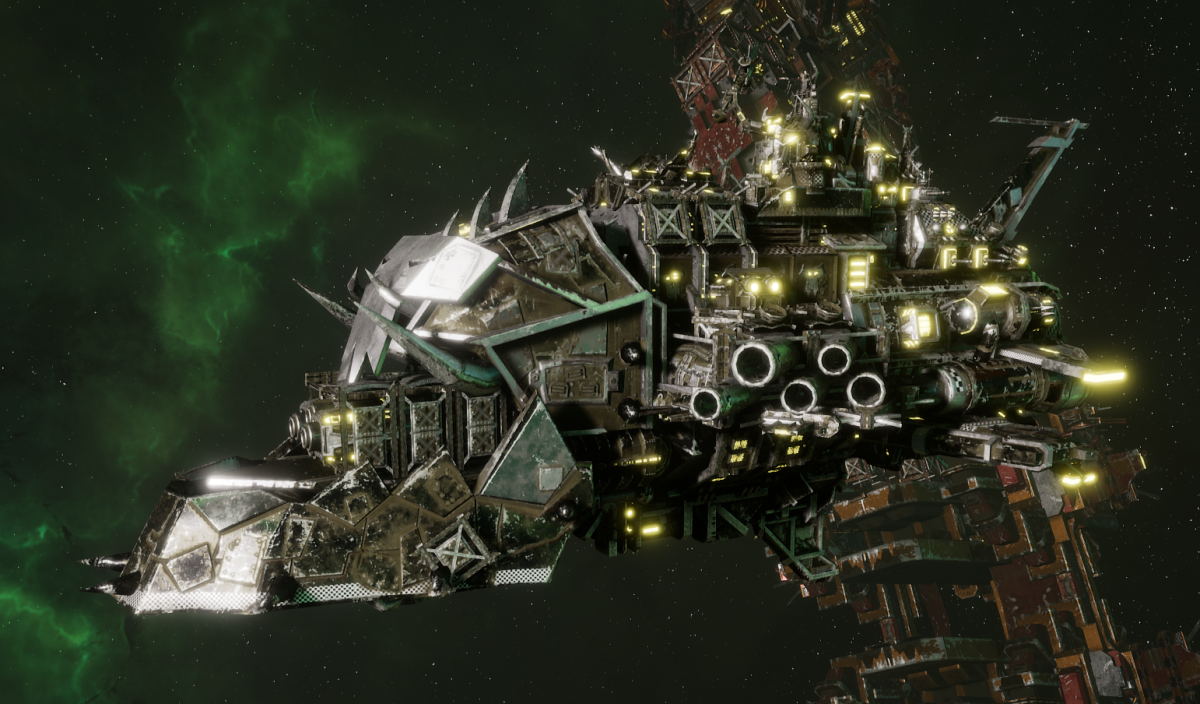 "Ork Light Cruiser - ""Basha Urd Unki"" - [Goffs Sub-Faction]"
